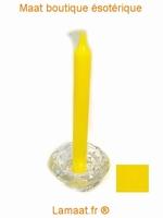 Bougie rituels jaune
