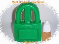 Bougie cadenas vert sans son huile