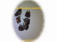 Pendentifs Tourmaline Rose brute