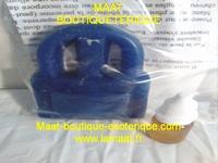 Bougie cadenas bleu marine avec son huile