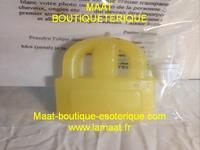 Bougie cadenas jaune avec son huile