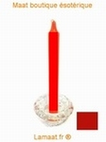 Bougie rituels rouge