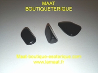 Obsidienne pierre roulée  Lot