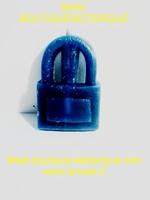 Bougie cadenas bleu marine sans son huile