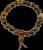 Bracelet Oeil de tigre mala tibétain