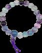Bracelet Fluorite mala tibétain