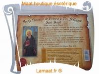 Bougie parchemin de prière à la cire d'encens Saint Benoît