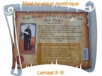 Bougie parchemin de prière à la cire d'encens Saint Pérégrin