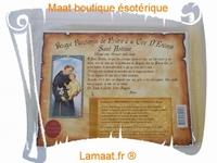 Bougie parchemin de prière à la cire d'encens Saint Antoine