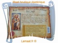 Bougie parchemin de prière à la cire d'encens Saint Joseph