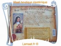 Bougie parchemin de prière à la cire d'encens Sainte Thérèse