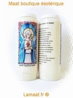 Bougie neuvaine sacré coeur de Marie