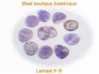 Améthyste pierres plates polie