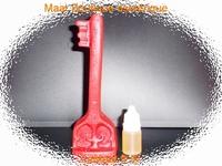 Bougie Clé magique du succès rouge avec son huile