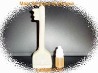 Bougie Clé magique du succès ivoire avec son huile