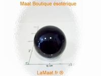 Boule d'onyx noir