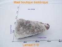 Cristal de roche avec trace de manganèse