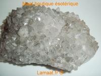 Druse de quartz fumé (cristal de roche)