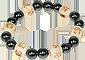 Bracelet Perles de karma Hématite - grand