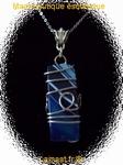 Pendentif en agate bleu