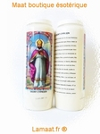 Bougie neuvaine Saint Cyprien