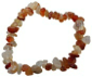 Bracelet Cornaline-Cristal Roche