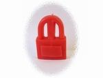 Bougie cadenas rouge sans son huile