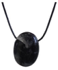 Pendentif pierre ovale percée Tourmaline Noire