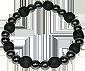 Bracelet perles Bois Noir karmaet Hématite