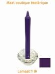 Bougie rituels violet