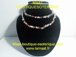 Collier multi pierres