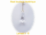 Lithotherapie Pendule Cristal 24  Facettes