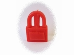 Bougie cadenas rouge avec son huile