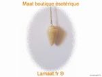 Pendule toupie pierre naturel agate (brune)