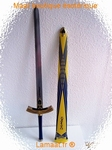 Epée médiévale bleu jaune