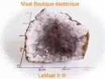 Cristal de roche (quartz) trace de manganèse