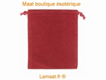 Pochette velours  bordeau
