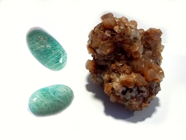 Amazonite - Aragonite
