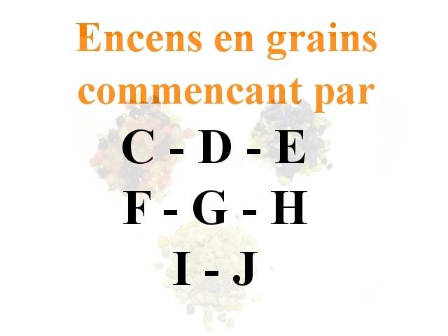 Encens en Grains C D E F G H I J