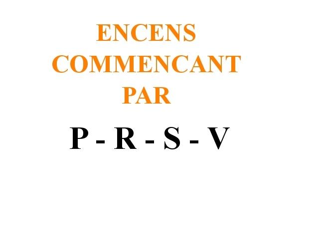 Encens en Poudres P-R-S-V