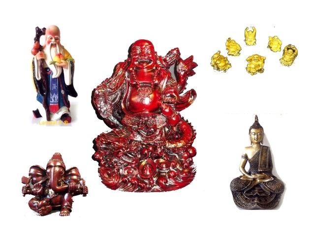 Statuettes Bouddha Ganesh